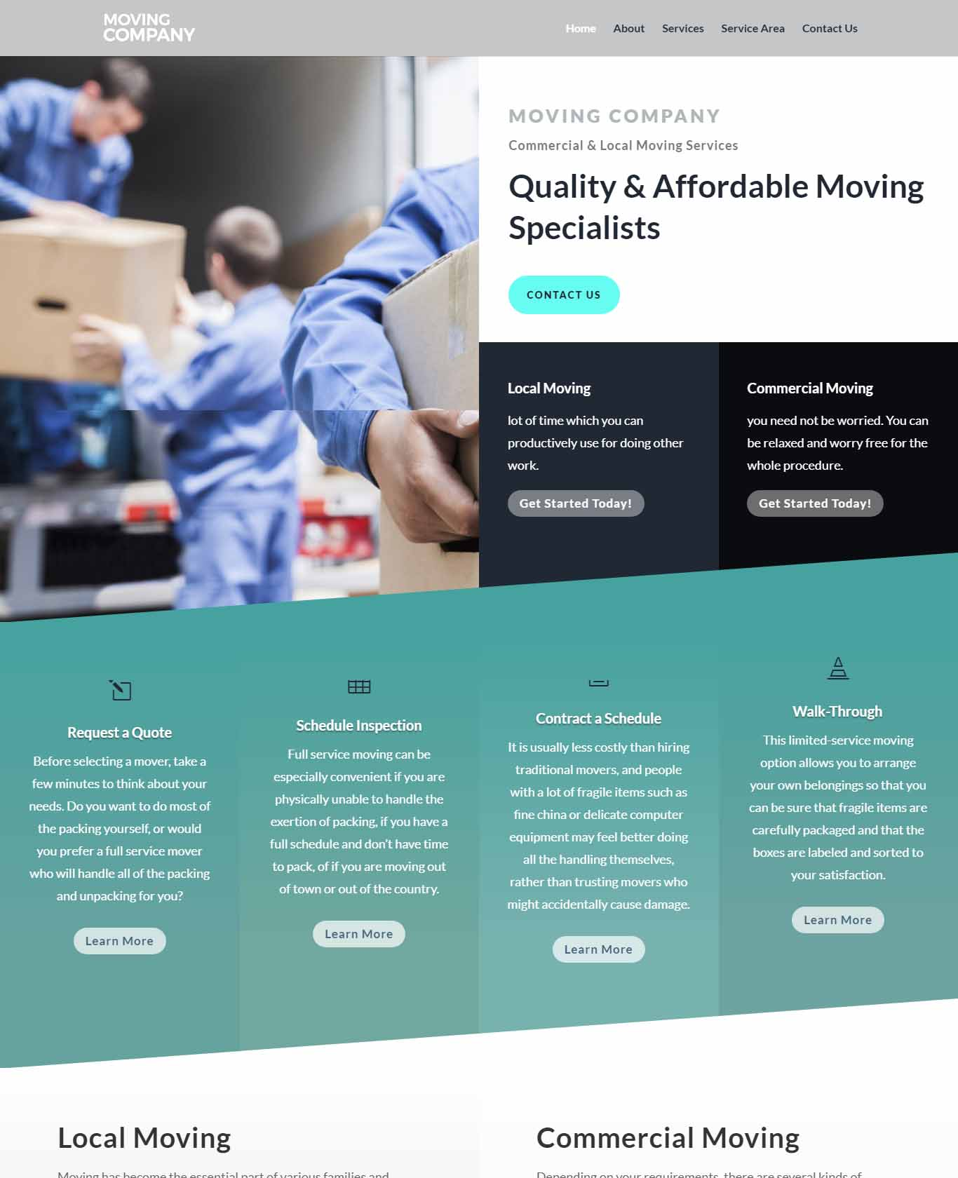 Moving Website Sample Design 3